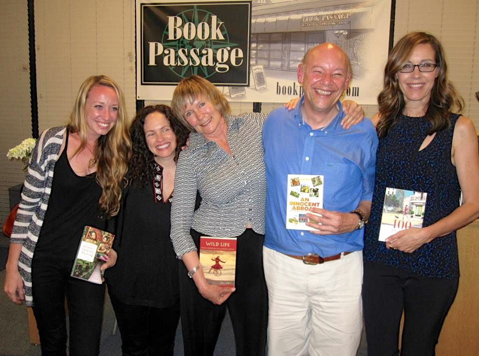 Candace Rose Rardon. Lavinia Spalding, Lisa Alpine, Don George, and I. Photo @ M. Terry Bowman