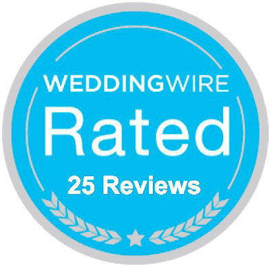 WeddingWire 25 Reviews Badge