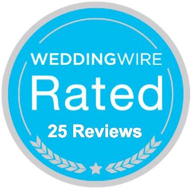 WeddingWire 25 Reviews Badge