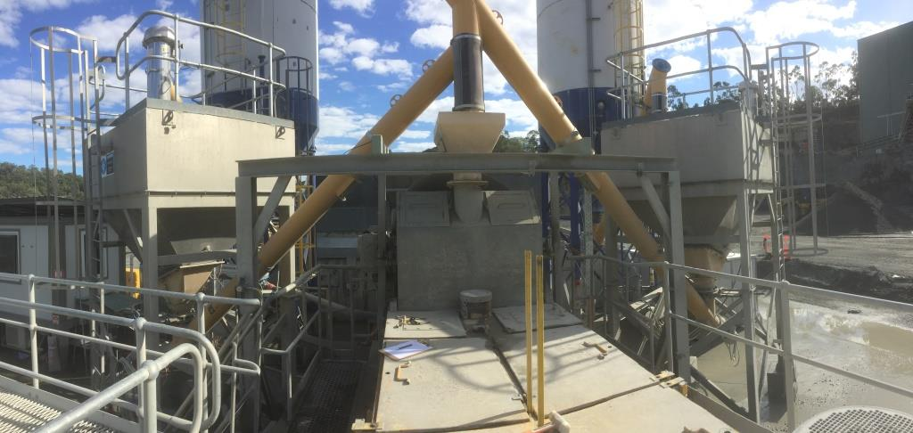 Site Photo Showing the Screw Conveyor Transitions that require modification