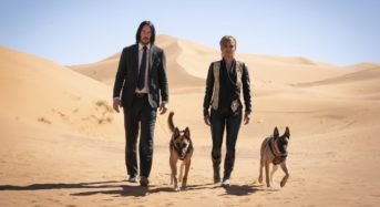"Keanu Reeves Is on the Run in ""John Wick 3: Parabellum,"" But the Doggies Are Still Adorable"