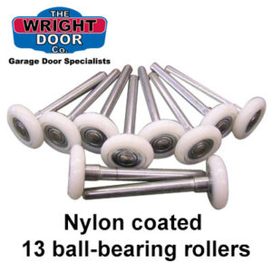 Nylon coated 13 ball bearing garage door rollers