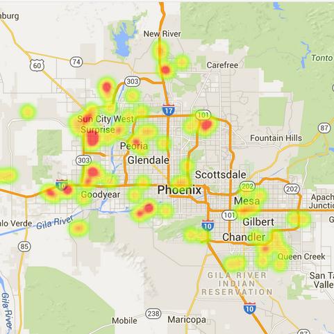 Phoenix solar home sales statistics - August 2015