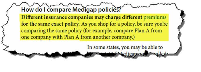 Shop medigap plans