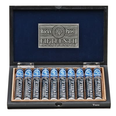 Rocky Patel 15th Anniversary Deluxe Toro Tube Cigars Box 10