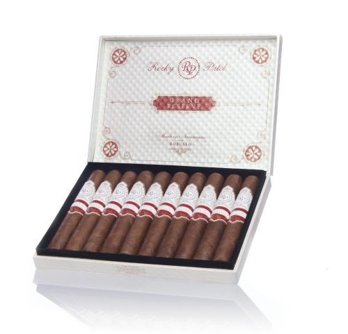 "Rocky Patel Grand Reserve Sixty Box 10 Grand Reserve Rocky Patel Grand Reserve is the only international brand producted by RPPC. The Grand Reserve features a rich blend of tobacco aged for two years. Moreover, this unique blend is manufactured in three diffreent sizes viz. Robusto, Toro and Sixty each presenting elegant notes of distinct flavours. Robusto The 6 inches long cigar with 60 ring gauge is rolled in Nicaragua at the Tavicusa factory. Besides the Toro and Sixty, the Sixty is rolled in a smooth and oily wrapper, which offers a Colorado Maduro shade to the cigar. Product Details : Origin : Nicaragua Size : 6 "" Ring Gauge : 60"