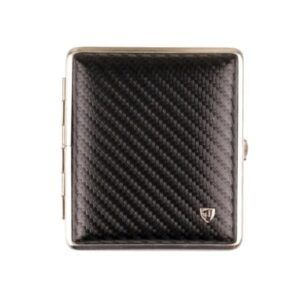Cigtt.Case Leather Carbon Black Frame Chrome Matt 18er