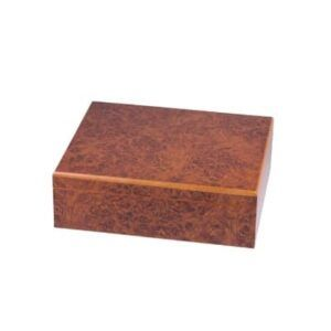 Humidor set burl wood for ca. 25 cigar Humidor