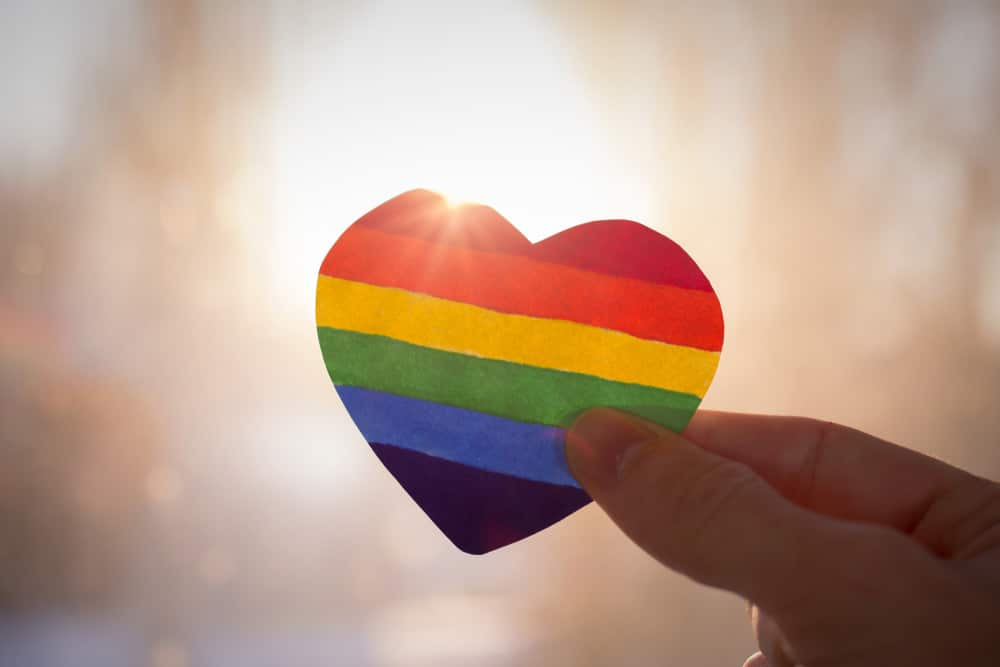 LGBT Colored Heart Shaped Paper