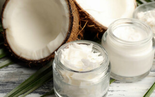 Sliced Coconut With Coconut Oil