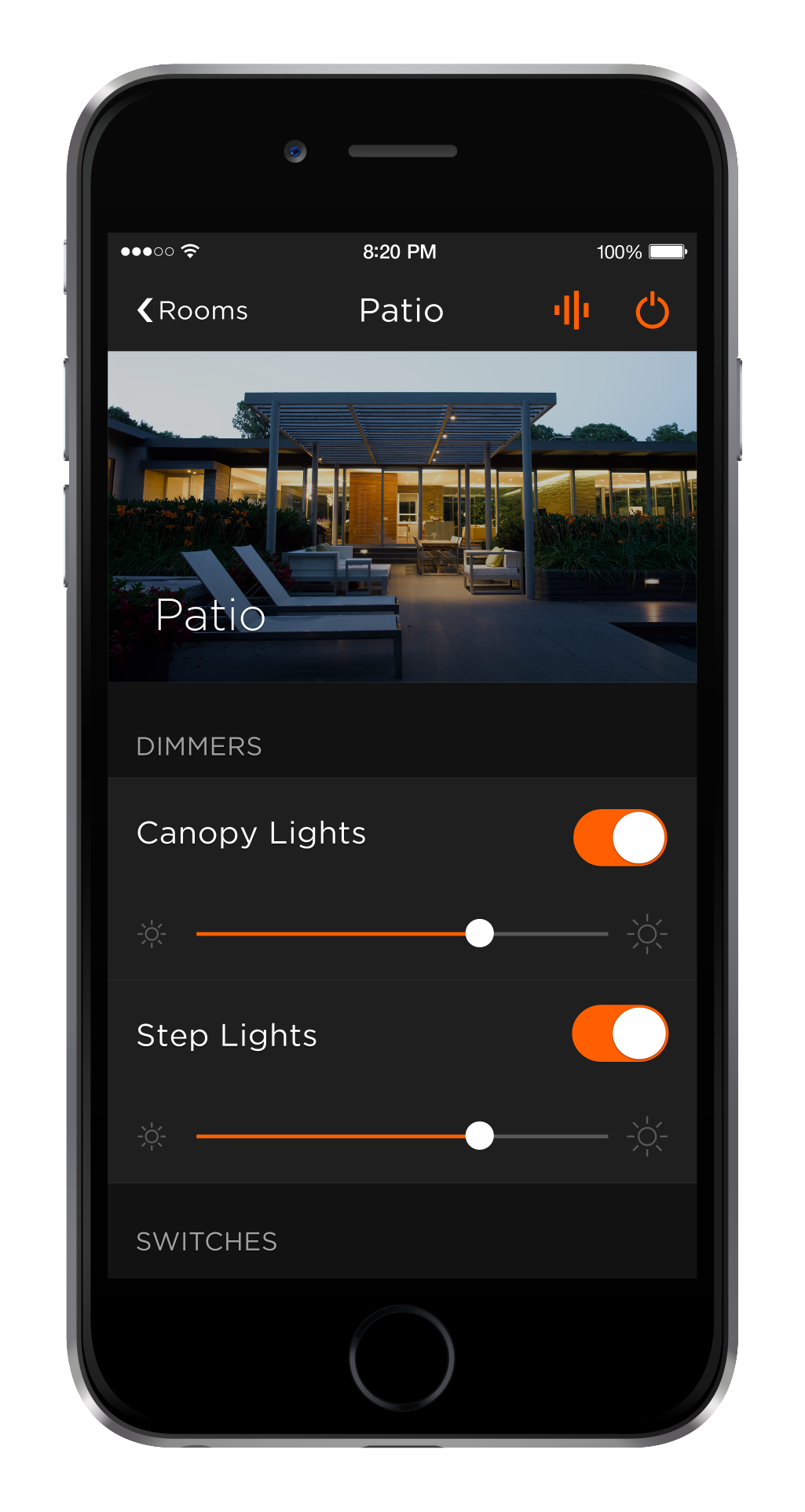 Home Automation iPhone Lighting App