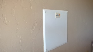 Behind this panel is the wiring for my phone lines and coaxial cables for cable TV