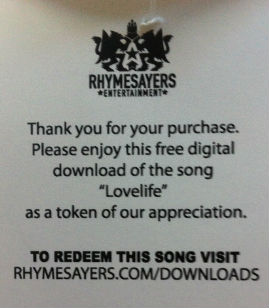 Sweet tag came with a free song download (of course, I already had the song, but still...)