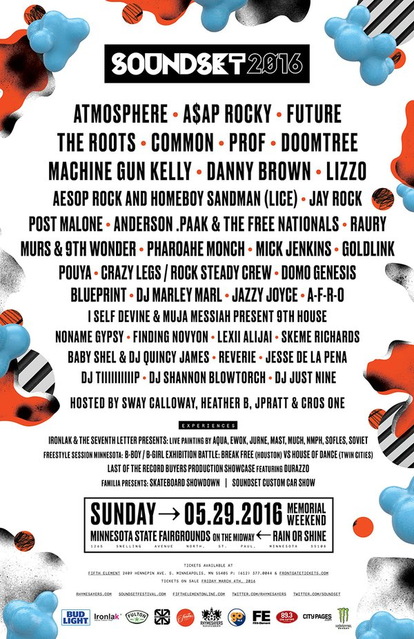 Soundset Lineup Announced