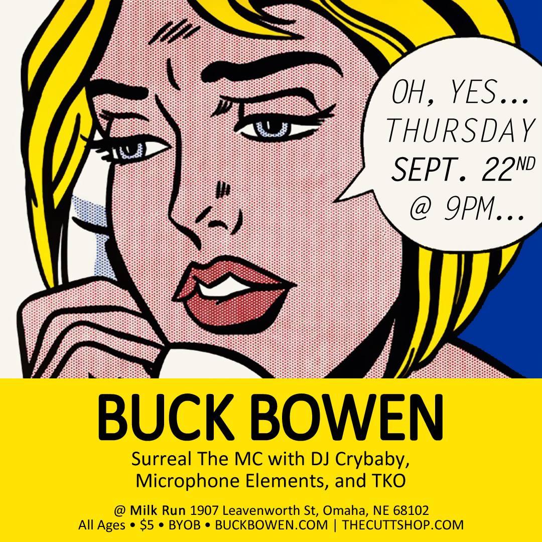 Buck Bowen's Return: Catch Him at Milk Run on Thursday