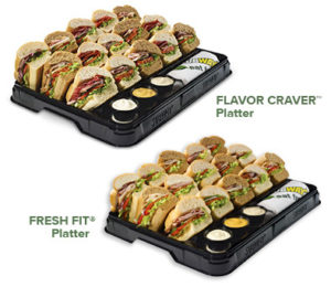 subway sandwich platters