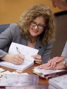 Katrina Shawver signing books