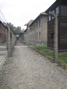 Electric fence at Auschwitz