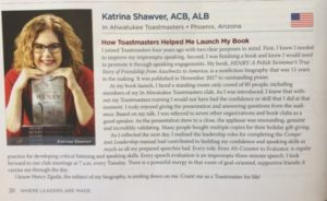 Featured in Toastmasters International Magazine June 2018
