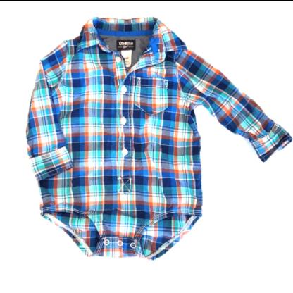 OshKosh Plaid Shirt (Size 24M)