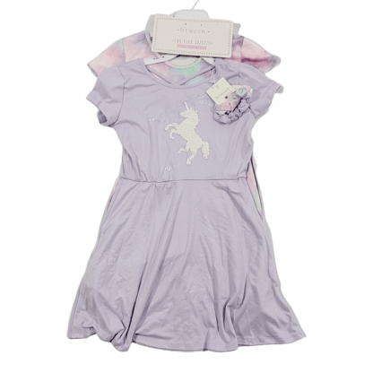 Btween Two Pack Dresses with Matching Scrunchies (Choose Size)