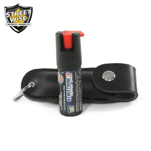 Lab Certified Streetwise 18 Pepper Spray, 1/2 oz. Soft case BLACK