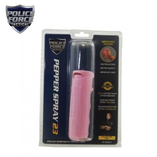 Police Force 23 Pepper Spray 1/2 oz. Flip Top PINK