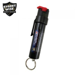 Lab Certified Streetwise 18 Pepper Spray 3/4 oz KEY RING & CLIP