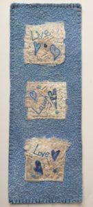 Live, Laugh Love Miniature Quilt www.kateskloths.co.uk