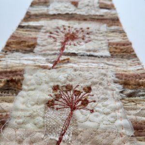 Close up - Seed Head Miniature Quilt www.kateskloths.co.uk