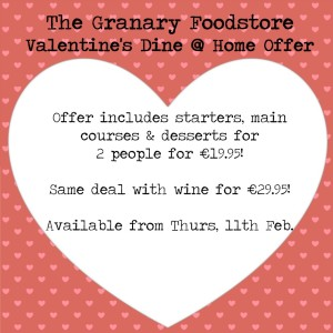 Valentine's Dine at Home Offer 2016 Facebook