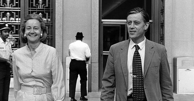 The Post's Katharine Graham and Ben Bradlee after winning a ruling in the 1971 Pentagon Papers case.