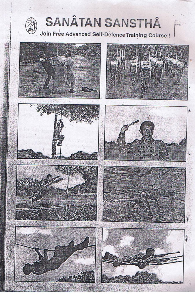 Back cover of book on commando training