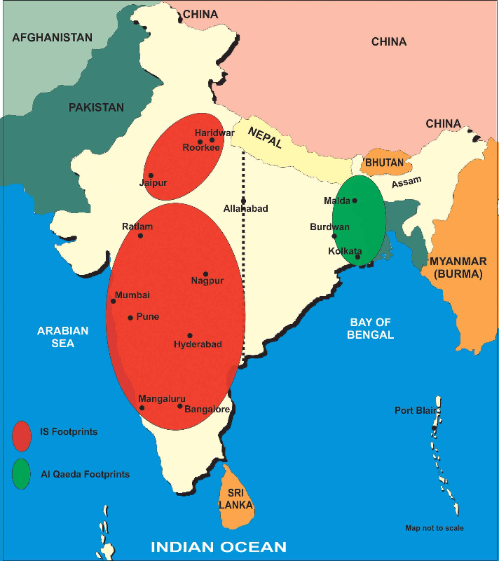 India ISIS footprints