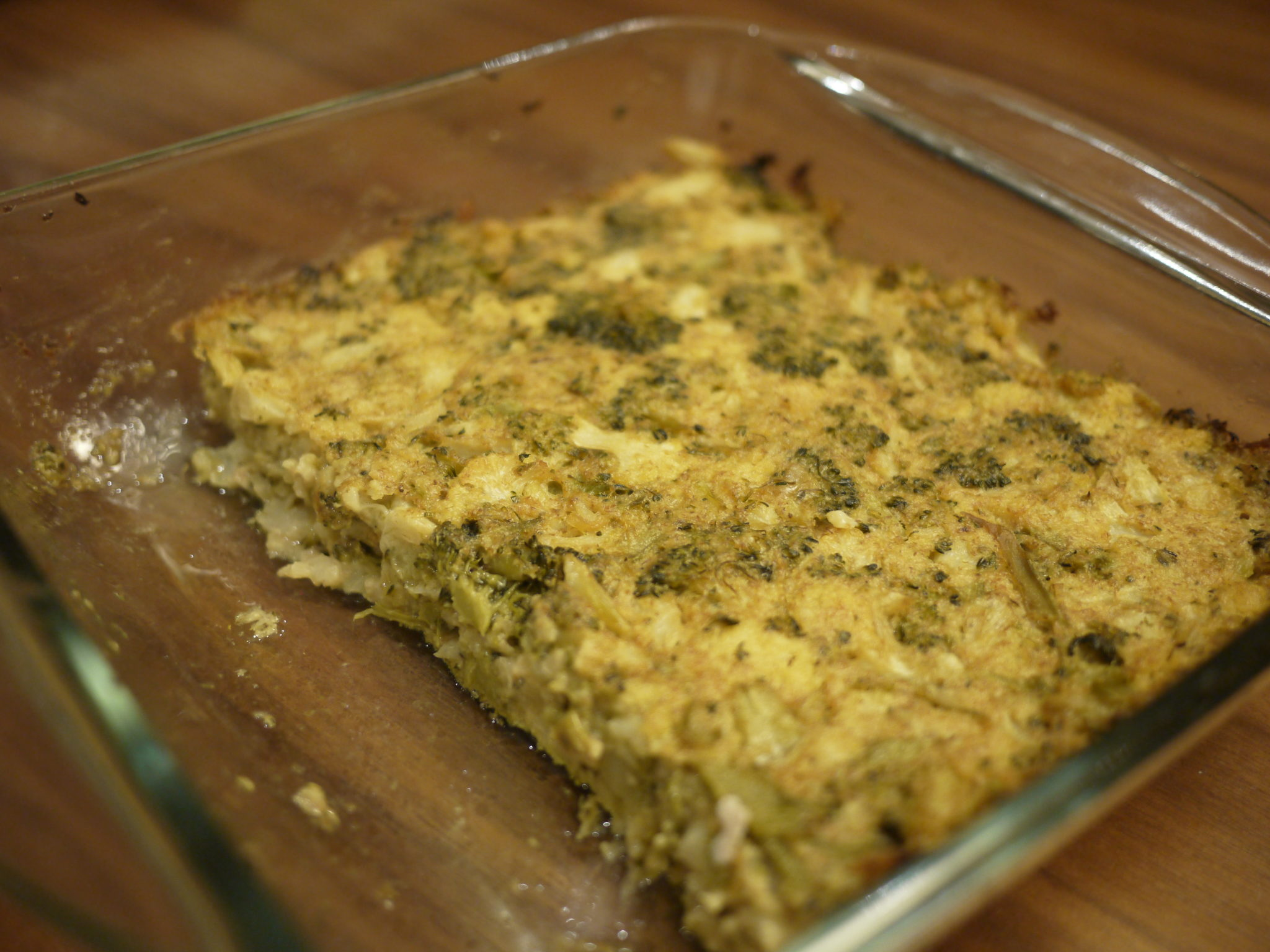 Cauliflower broccoli dairy-free casserole