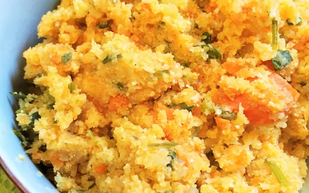 Cauliflower Rice (Spanish Rice style)