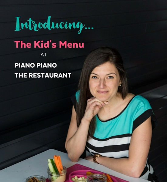 Kid's Menu at Piano Piano the Restaurant