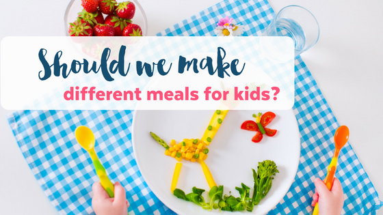 Should we make separate meals for picky eaters?
