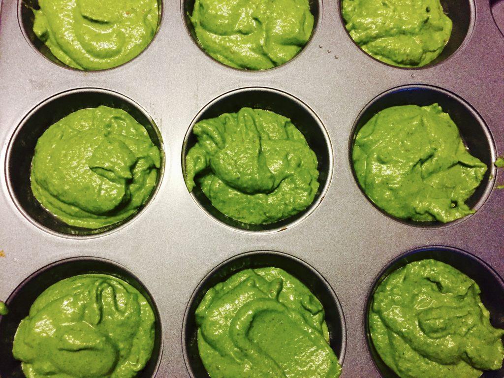 green gluten-free muffins