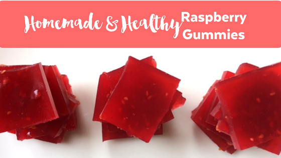 Homemade Healthy Raspberry Gummies