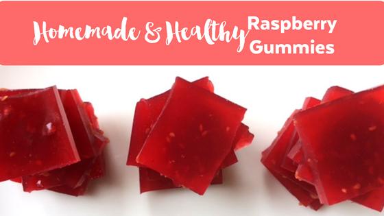Homemade Healthy Raspberry Gummies