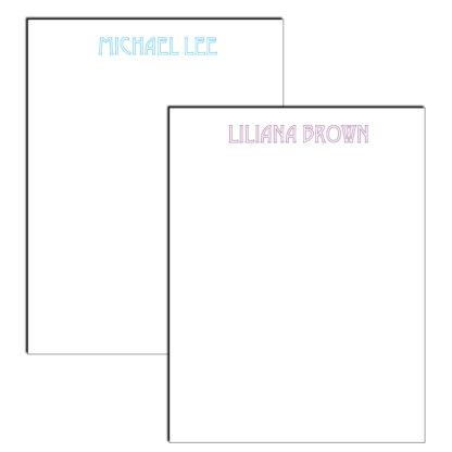 personalized notepad stencil font