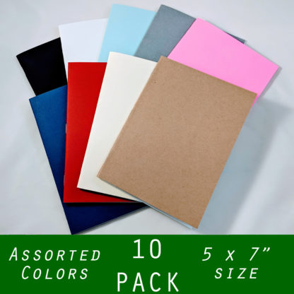 bulk 10 pack mid size 5x7 notebook