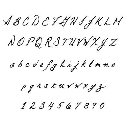 personalized notebook sketchbook in cursive