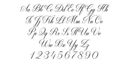 fancy cursive