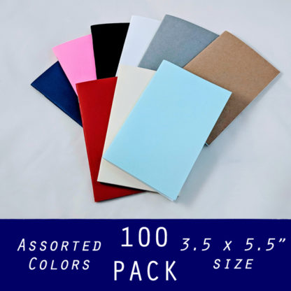 "pocket sized 3.5 x 5.5"" notebooks bulk 100 pack"