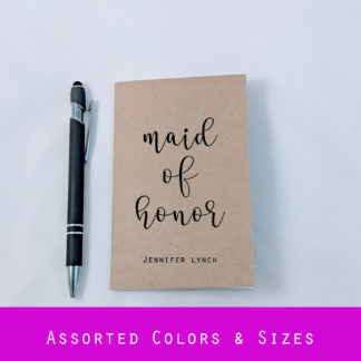 personalized maid of honor notebook
