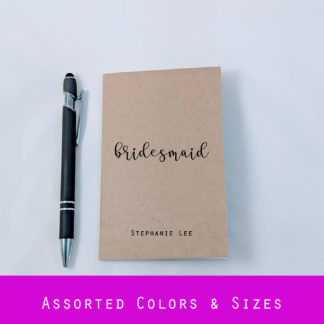 personalized bridesmaid notebook journal