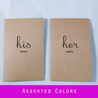 Simple His Hers Wedding Vow Books