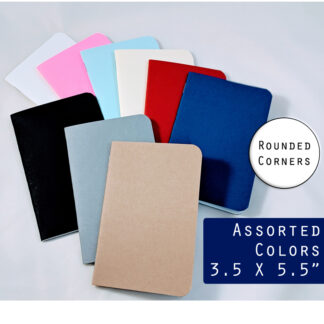 small pocket notebooks with rounded corners